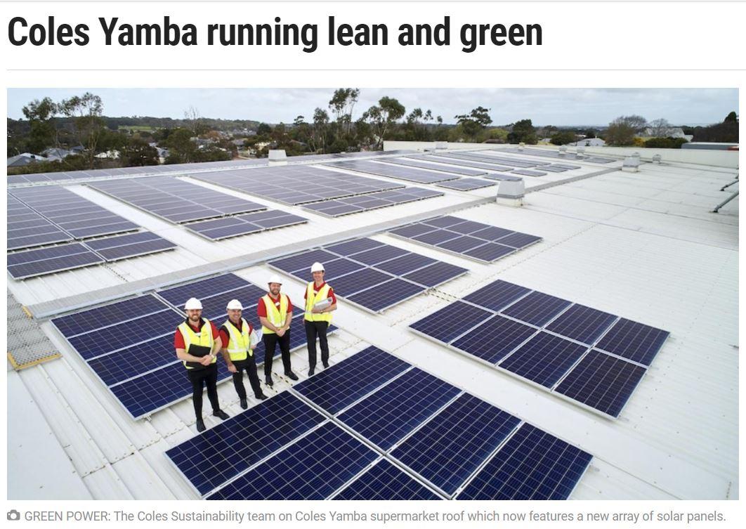 Coles Yamba Solar Story